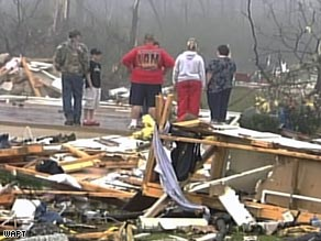 The storms, which included two tornadoes, damaged at least 108 homes.