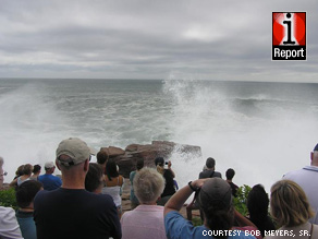 Hurricane Bill generated high seas and closed beaches along the eastern seaboard over the weekend.