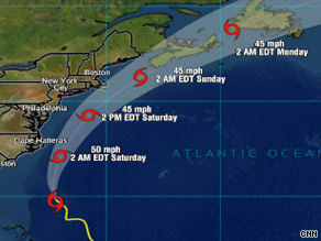 Tropical Storm Danny is expected to turn to the north and pick up speed.
