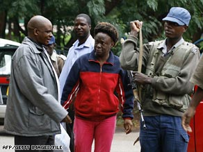 Activist Jestina Mukoko arrives at court in Harare, Zimbabwe, last month.