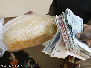 Zimbabwe's dollar is virtually worthless with foreign currency now being used to purchase basic items.