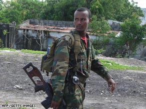 Ethipian troops invaded Somalia in 2006.