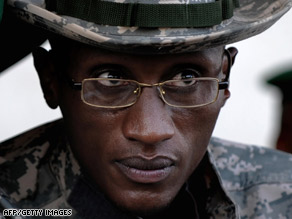 Laurent Nkunda, seen here in November 2008, was reportedly arrested last week in Rwanda.