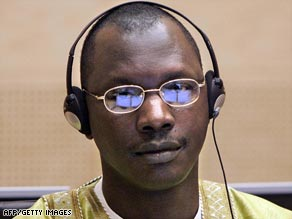 Thomas Lubanga at the International Court of Justice in The Hague in 2007.