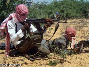 Islamist militia display weapons Monday in defiance of newly elected President Sheikh Sharif Sheikh Ahmed.