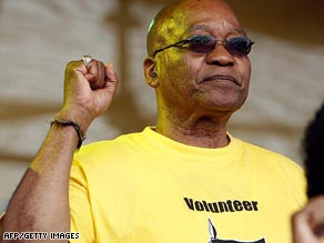 Jacob Zuma president of the ANC