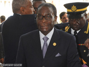 Robert Mugabe arrives at a meeting Sunday in Ethiopia, where he was attending the African Union summit.