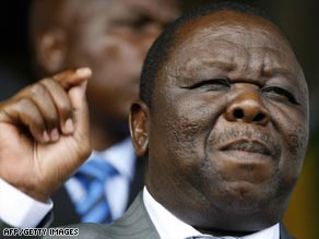 Zimbabwe's opposition, led by Morgan Tsvangirai, above, have formed a unity Cabinet with the ruling party.