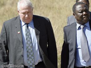 Roy Bennett, left, pictured with MDC leader Morgan Tzvangirai