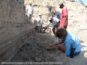 The footprints were found in two sedimentary layers, 1.5 million years old, near Ileret in the eastern African nation.