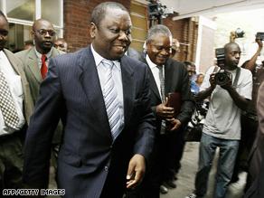 Zimbabwe's prime minister Morgan Tsvangirai was visiting cholera patients at a hospital in Harare.