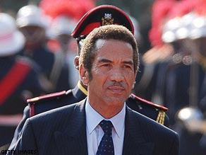 President Ian Khama took office in April 2008 promising steady progress.