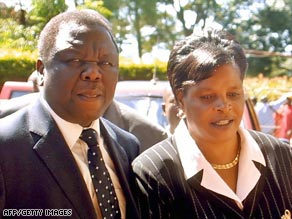 Tsvangirai and his wife, Susan, were en route to the prime minister's hometown of Buhera.