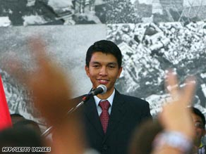 Andry Rajoelina took over after Marc Ravalomanana ceded power to the military.