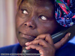 Nobel Peace Laureate Wangari Maathai is urging Africans to rise up and to demand responsible leadership.