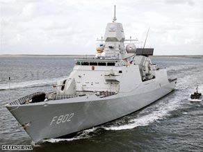 The Dutch frigate De Zeven Provincien tracked seven pirates Saturday back to their mother ship.