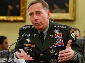 Gen. David Petraeus addresses the piracy issue during an appearance before a congressional subcommittee Friday.