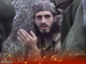 "Experts think Abu Mansoor al-Amriki, dubbed ""The American"" by al Qaeda, speaks in the Somali video."