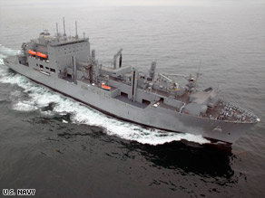 Pirates off the coast of Somalia tried to attack the USNS Lewis and Clark on Wednesday.