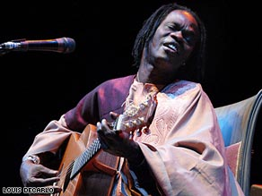 Baaba Maal playing at the Celtic Connections festival in Glasgow, 2008