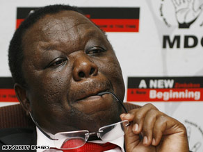 Prime Minister Morgan Tsvangirai has requested financial help from governments and international institutions.