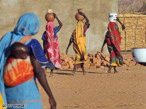 Sudanese women in a refugee camp in southern Chad in March.