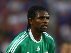 The 6 ft 5 in Nigerian footballer has used his sizable stature in the game to help many others.
