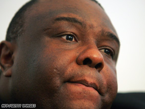 Jean-Pierre Bemba is seen here in October 2006 in Kinshasa, Democratic Republic of Congo.
