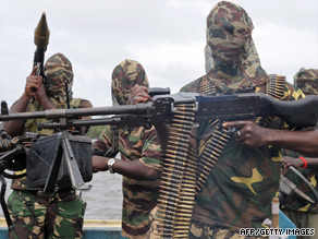File image of armed MEND militants in Niger Delta region of Nigeria