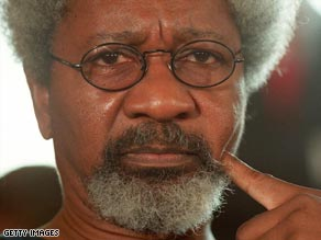 Poltical activist and Nobel Laureat, Wole Soyinka.