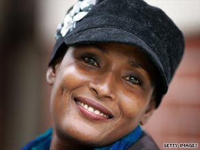 Face for change: Dirie is a tireless campaigner against FGM.