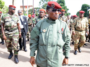 Guinea's military ruler, Capt. Moussa Dadis Camara, seized power in a bloodless coup in December.