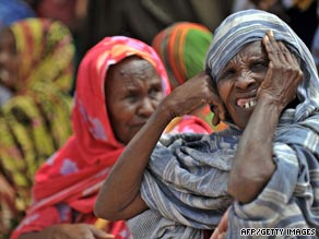 Somali women at a camp for displaced persons.