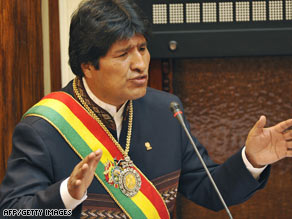The new constitution would eliminate term limits and allow President Evo Morales to run again for president.