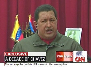 Venezualan President Hugo Chavez said improved relations depend on the United States.