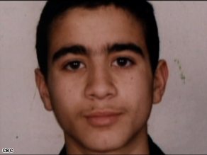 Omar Khadr, is shown here in his early teens, when he was first accused of killing a U.S. soldier in Afghanistan.