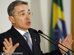 President Alvaro Uribe says a reward has been offered for information in Father Juan Gonzalo Aristizabal's death.