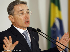 Colombian President Alvaro Uribe has said that he did not order any wiretaps.