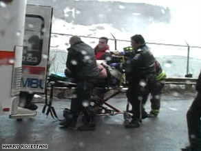 """The man was in the near-freezing water for """"40-plus"""" minutes before he was rescued."""