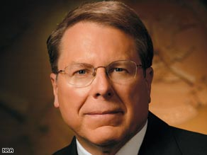 Wayne LaPierre says the Mexican drug war isn't a reason to restrict gun ownership in the U.S.