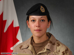 Trooper Karine Blais, 21, is the second Canadian female soldier to die in Afghanistan.