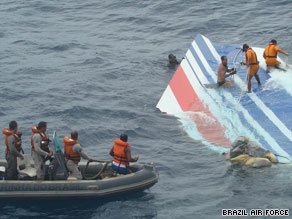 Wreckage hauled in from the Atlantic over the weekend includes pieces of the aircraft's wing section.