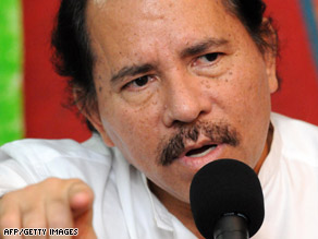 Nicaragua President Daniel Ortega expressed disappointment in U.S. President Barack Obama's decision.