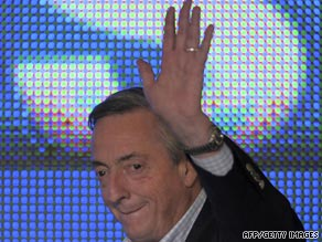 Former Argentine Nestor Kirchner accepts defeat Sunday in legislative elections in Buenos Aires.