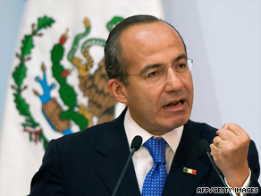 Mexican President Felipe Calderon has three years left in his six-year term.