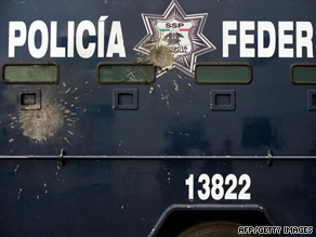 Drug violence is up in Michoacan state, shown by recent attacks on police in at least a half-dozen cities.
