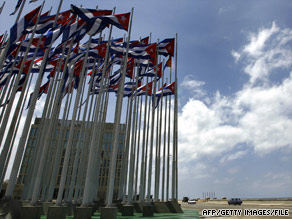 Cuban leader Raul Castro took down some anti-U.S. billboards in Havana earlier this year.