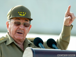 Cuban President Ra�l Castro speaks earlier this week in Holguin during events for Cuban National Day.