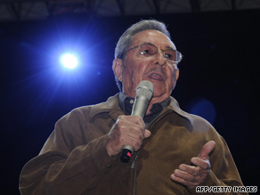 Cuban leader Raul Castro, seen August 10, says he would be willing to talk with the U.S. about political prisoners.