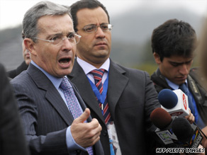 Colombian President Alvaro Uribe retains high approval ratings, and no serious challenger has emerged.